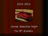 Course Selection Night for 8th Grade Parents