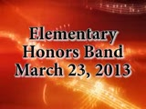 Elementary Honors Band