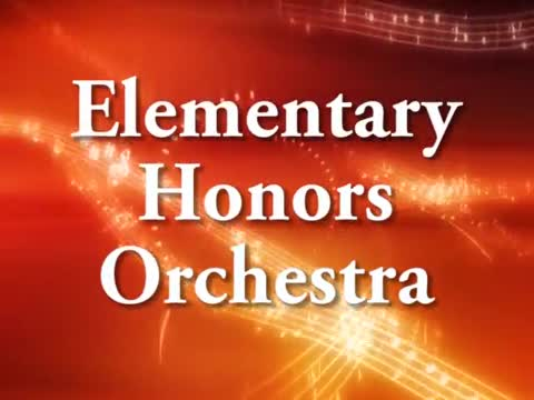 Elementary Honors Orchestra 1/30/16