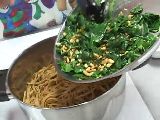 FCS: In The Kitchen Spaghetti with Collard Greens, Pine Nuts and Lemon