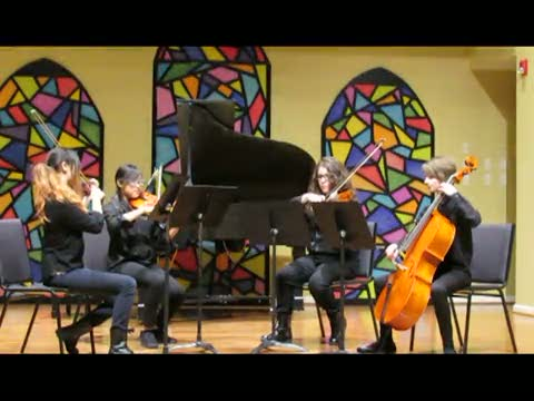 Indian Crest Orchestra members perform at Community Music School Honors Recital 3/15/15