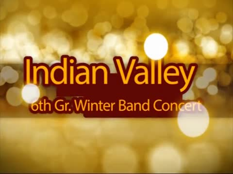 Indian Valley 6th Gr Winter Band Concert 12/10/15
