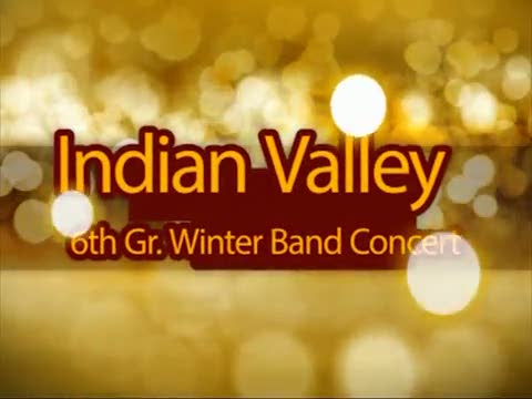 Indian Valley 6th Gr. Winter Band Concert 12/11/14