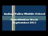 Constitution Week at Indian Valley Middle School